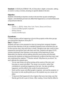 10 Day Literature Circle Lesson Plans
