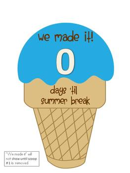 10 Day Summer Countdown Wall Display