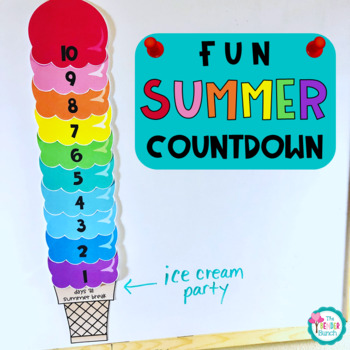 10 Day Summer Countdown Wall Display