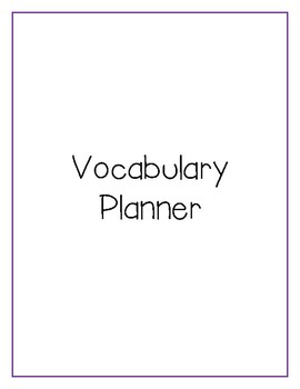 10 Day Vocabulary Cycle