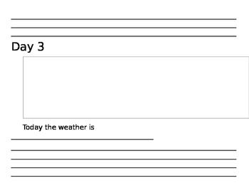 10 Day Weather Journal