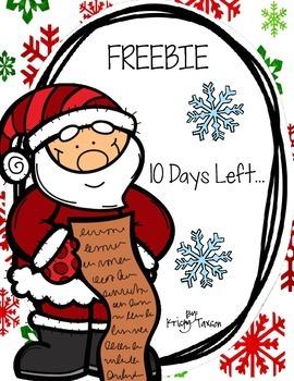 10 Days Left FREEBIE