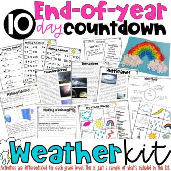 End of Year Survival Kit Countdown for Grades 1-2