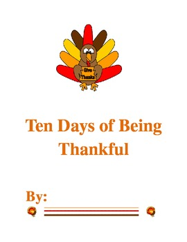 10 Days of Being Thankful- EDITABLE!