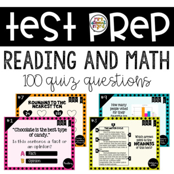 10 Days of ELA and Math Test Prep (100 Questions!)
