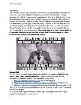 10 Days of High School English Project: Fake News & Orwellian Language