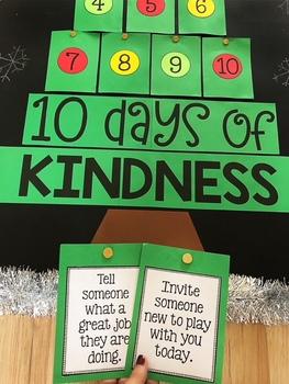 10 Days of Kindness - Christmas Bulletin Board Idea
