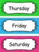 10 Days of the Week and What Day Is It Labels.