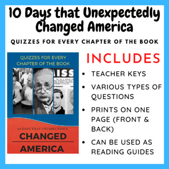 10 Days that Unexpectedly Changed America (Quizzes for Every Chapter)