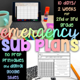 2nd or 3rd Grade 10 Days/2 Weeks NO PREP Emergency Sub Plans - Just Hit Print!