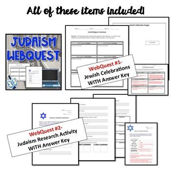 10 Deadly Plagues and Judaism WebQuests Bundle