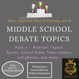 10 Debate Topics that Middle School Students with Etiquette and Rules Pack A