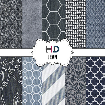10 Denim Jean Digital Background Paper Patterns