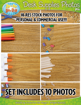 10 Desk Supplies Stock Photos Pack — Includes Commercial License!