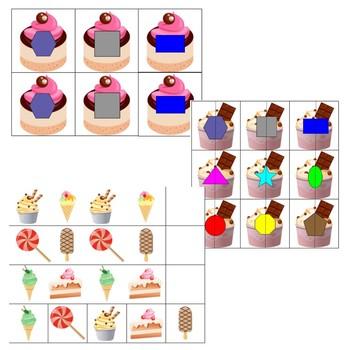 Dessert File Folder Games