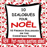 10 French Dialogues + Questions for Christmas (NOËL) - Speaking + Reading