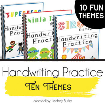 10 Different Themed Handwriting Practice Workbooks!