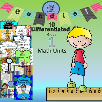 Bundle of First Grade Differentiated Math Units