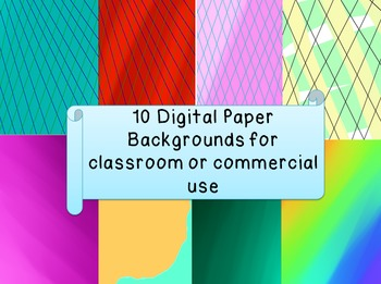 10 Digital Background Papers for Commercial & Personal Use