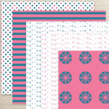 10 Digital scrapbooking sheets