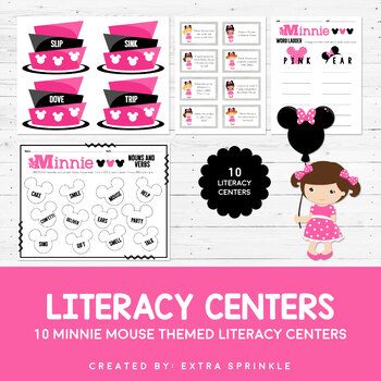 10 Disney Inspired Minnie Mouse Literacy Centers