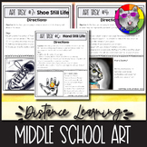 10 Distance Learning Art Projects, for Middle School stude
