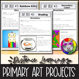 10 Distance Learning Art Projects, for Primary students, A