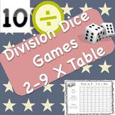 10 Division Dice Games and Bonus Multiplication Game