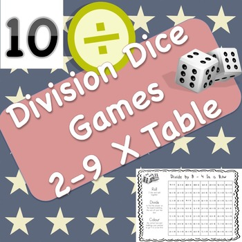 10 Division Dice Games Bundle and Bonus Multiplication Game