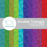 10 Double Triangle Pattern Digital Papers