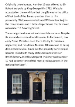 10 Downing Street Handout