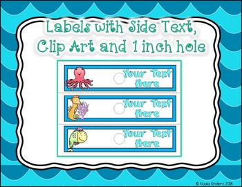 10 Drawer Cart EDITABLE Labels for Sea Friends