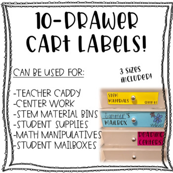 10-Drawer Cart Labels