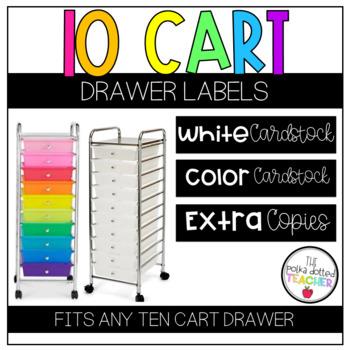 10 Drawer Cart Labels