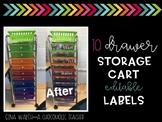 10 Drawer Cart Labels {Editable}