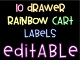 10 Drawer Cart Labels- Editable
