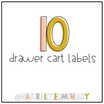 10 Drawer Cart Labels *Plus EditableVersion*