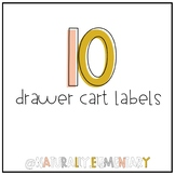 10 Drawer Cart Labels *Plus EditableVersion*