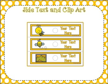 10 Drawer EDITABLE Labels with Busy Bees