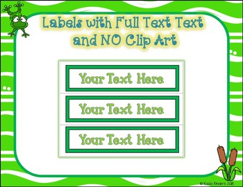 10 Drawer EDITABLE Labels with Froggy Friends Theme