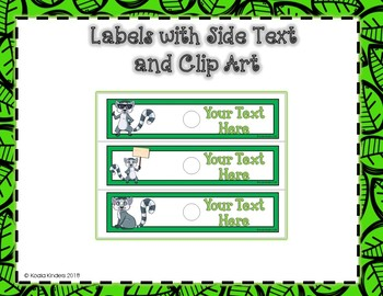 10 Drawer EDITABLE Labels with Lemurs