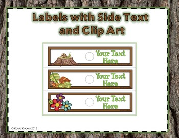 10 Drawer EDITABLE Labels with Woodland Friends
