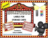 10 Drawer EDITABLE Rolling Cart Labels - Hollywood Themed