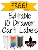 10 Drawer Editable Lables FREEBIE!