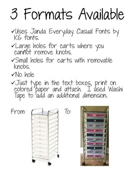 10 Drawer Editable Lables FREEBIE!