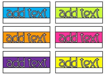 10-Drawer File Labels