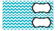 Chevron Labels for 10-Drawer Organizer (Aqua and Black)