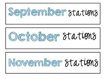 10 Drawer Labels Monthly