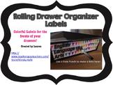 10 Drawer Plastic Organizer Labels-Bright Colors Bunting Design