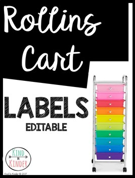 10 Drawer Rolling Cart Labels *EDITABLE*